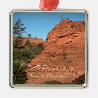 Ornamento: Roca roja en Zion (cuadrado superior) Ornamentos De Reyes Magos