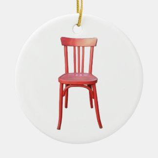 Ornamento rojo de la silla ornamento de reyes magos