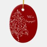 Ornamento rojo del compromiso del invierno del árb ornamentos de navidad