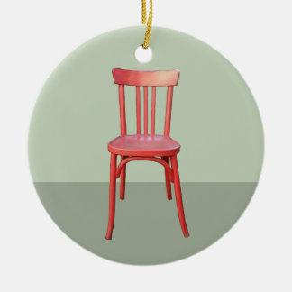 Ornamento rojo del verde de la silla adorno de navidad