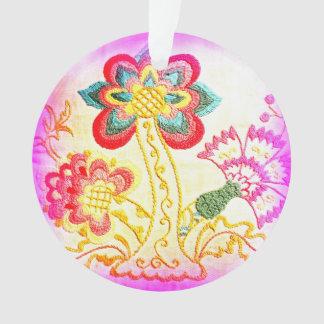 ornamento rosado bordado de la palmera