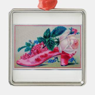 Ornamento rosado de la flora del zapato adorno