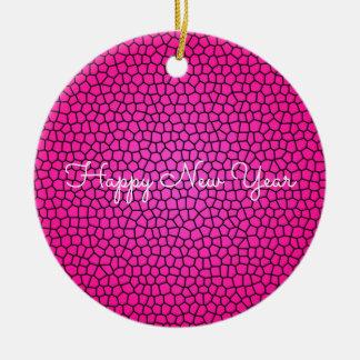 Ornamento rosado del diseño de la impresión de la