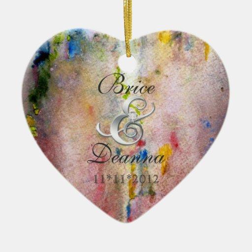 Ornamento rosado del favor de la bodas de plata de adorno para reyes