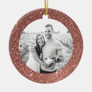 Ornamento rosado del navidad del día de fiesta del