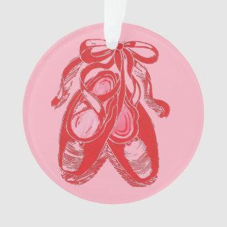 Ornamento rosado rojo del círculo de los zapatos