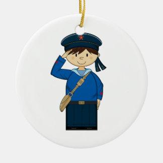 Ornamento ruso del marinero WW2 Ornamento Para Arbol De Navidad
