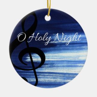 Ornamento santo del navidad de la noche de O Adorno Navideño Redondo De Cerámica