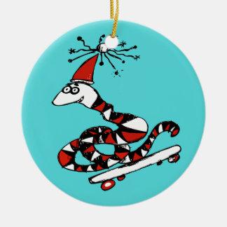 Ornamento tonto del navidad de la serpiente de