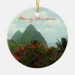 Ornamento tropical de las Felices Navidad del para Ornamente De Reyes