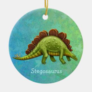 Ornamento verde del dinosaurio del Stegosaurus