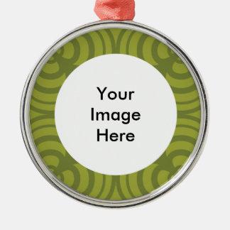 Ornamento verde del marco con el lugar para la