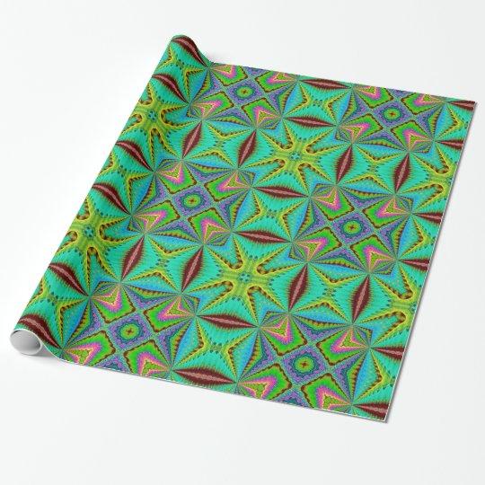 Ornamento verde papel de regalo