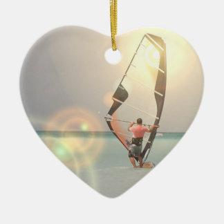 Ornamento Windsurfing del deporte Adorno De Cerámica En Forma De Corazón