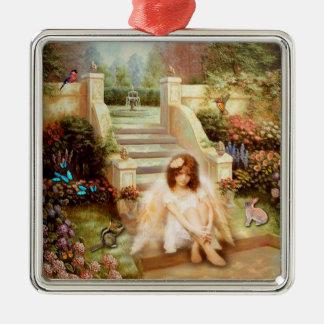 Ornamentos angelicales del jardín de la serenidad