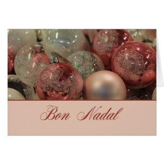 Ornamentos ardientes del navidad de Nadal del Bon Tarjeta De Felicitación
