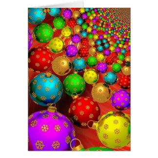 Ornamentos coloridos modernos del navidad tarjeta de felicitación