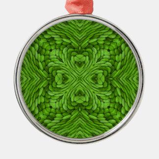 Ornamentos coloridos verdes del vintage que van