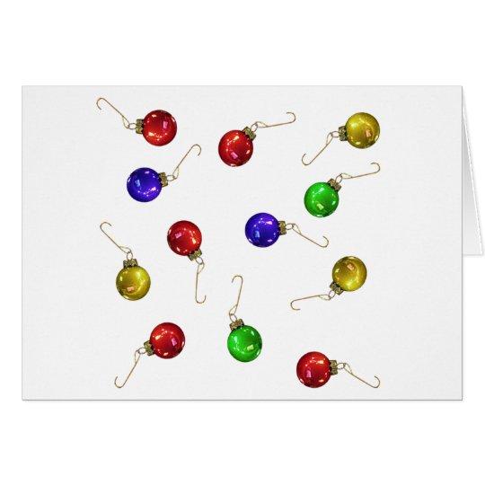 Ornamentos de la bola tarjeta de felicitación
