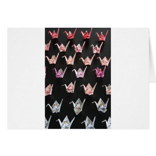 Ornamentos de la grúa de Origami Tarjetas