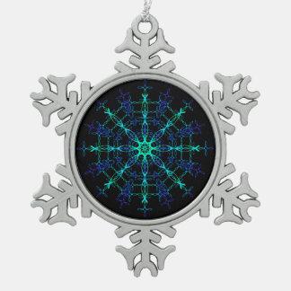 Ornamentos del navidad adorno de peltre en forma de copo de nieve