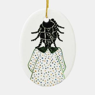Ornamentos del navidad adorno navideño ovalado de cerámica