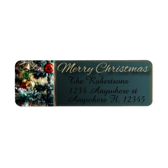 Ornamentos del navidad etiqueta de remitente