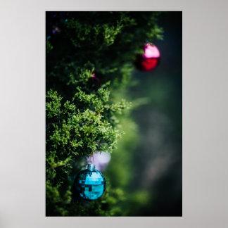 Ornamentos del navidad póster
