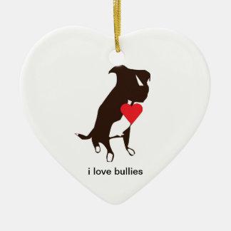 ornamentos del perro adorno de cerámica en forma de corazón