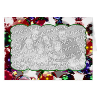 Ornamentos escarchados (marco de la foto) tarjeta de felicitación