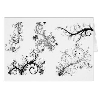Ornamentos florales decorativos tarjetas