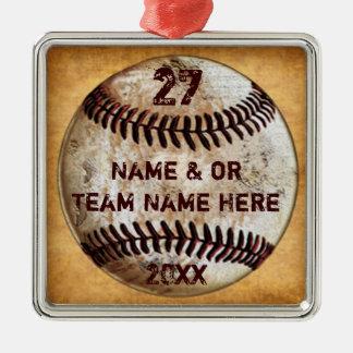 Ornamentos frescos del béisbol para los regalos
