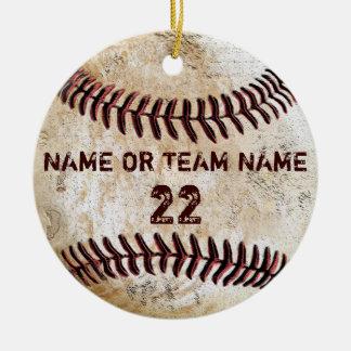 Ornamentos personalizados del béisbol del vintage