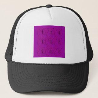 Ornamentos púrpuras/tienda gorra de camionero