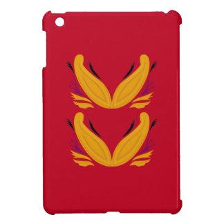 Ornamentos rojos del diseño del oro
