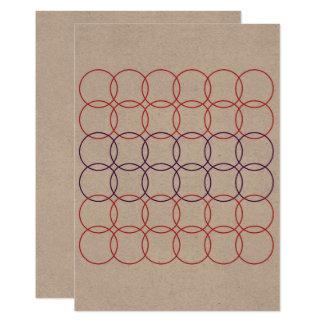 Ornamentos rojos exclusivos en marrón invitación 12,7 x 17,8 cm