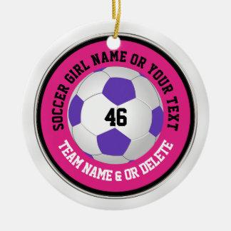 Ornamentos rosados lindos estupendos del fútbol
