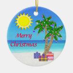 ¡Ornamentos temáticos de la playa, Felices Navidad Ornamento De Reyes Magos