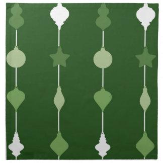 Ornamentos verdes servilleta de tela