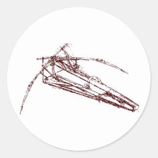 ornithopter pegatinas redondas