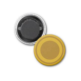 Oro 1-1/4 del pedazo del ~TAG~ de los inspectores  Imán Para Frigorífico