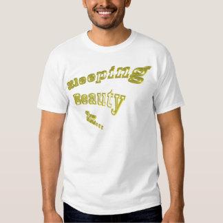 Oro 3DD de la bella durmiente ZZZ agradable Camiseta