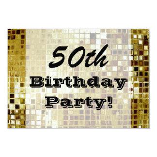 Oro 50.o o cualquier invitación de la fiesta de