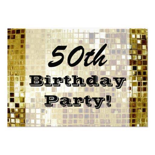 Oro 50.o o cualquier invitación de la fiesta de cu