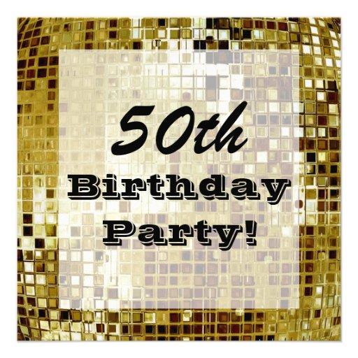 Oro 50 o o cualquier invitación de la fiesta de cu
