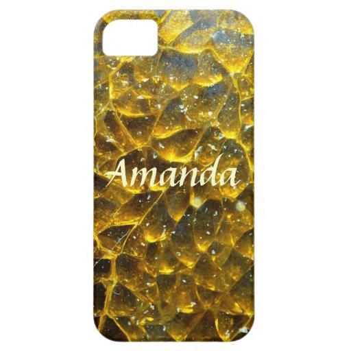 Oro abstracto iPhone 5 Case-Mate cobertura
