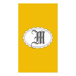 Oro amarillo tarjetas personales