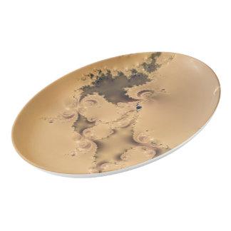 Oro antiguo único estupendo plato de porcelana