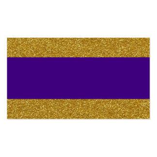 Oro atractivo y tarjetas púrpuras del lugar del tarjetas de visita