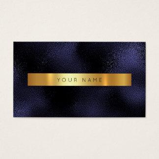 Oro azul atractivo Vip metálico de la marina de Tarjeta De Negocios